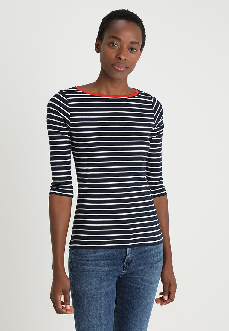 TOM TAILOR - STRIPE - Long sleeved top - navy