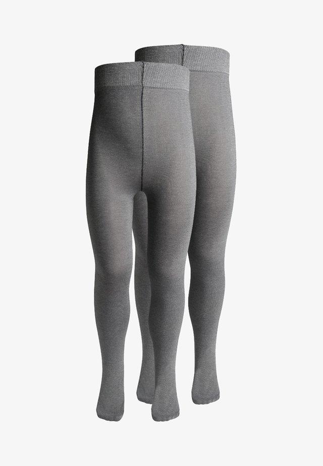 2 PACK - Collants - light grey melange