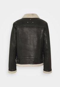 Be Edgy - AUSTIN - Leather jacket - black/white - 1