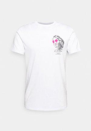 LEO TEE - T-shirt z nadrukiem - white