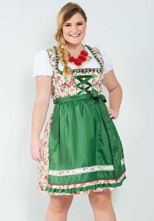 Dirndl - grün,rot,weiß