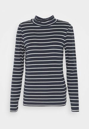 PUFF  - Long sleeved top - navy/white