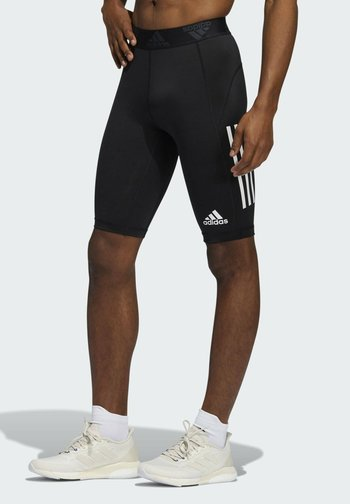 FOR THE OCEANS PRIMEBLUE TECHFIT SHORT TIGHTS - Pantalón corto de deporte - black
