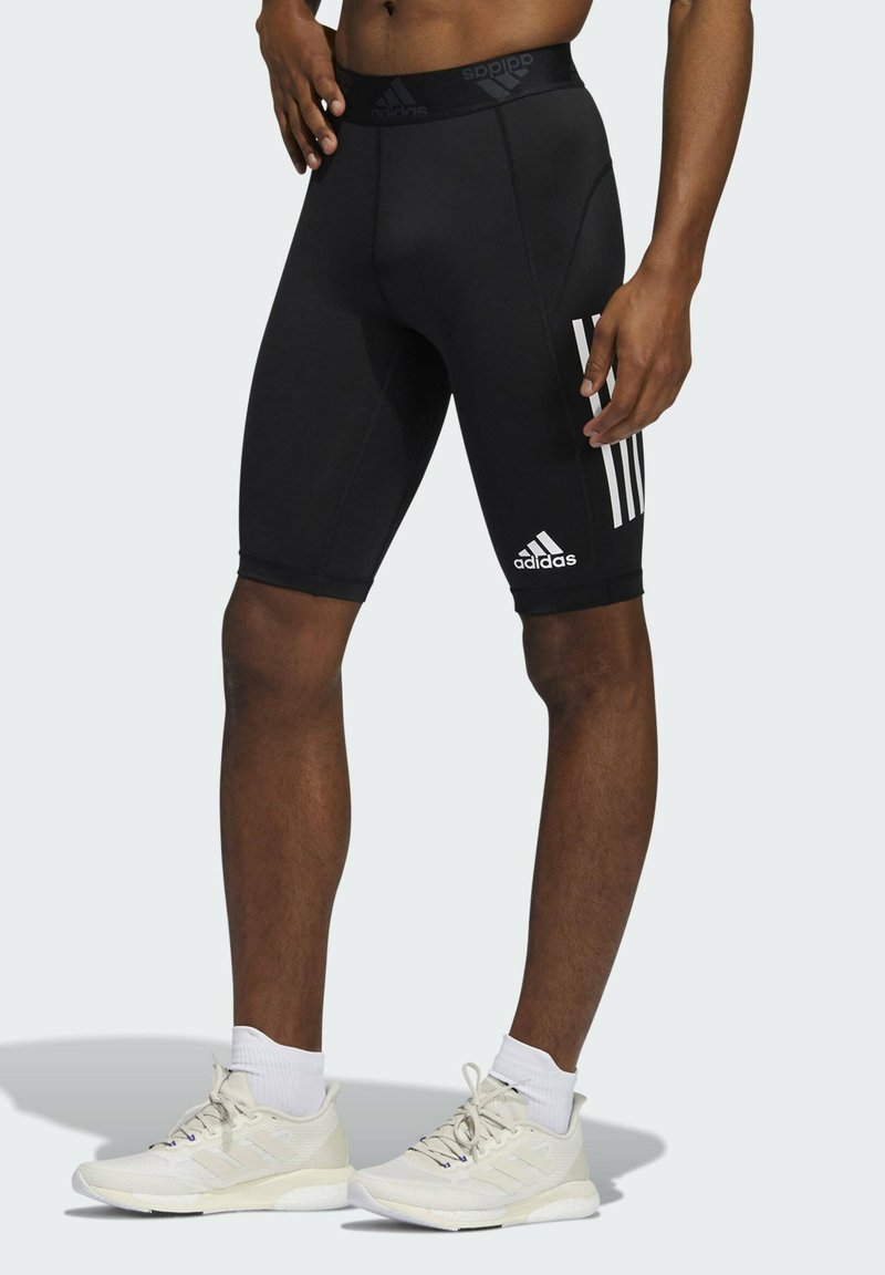 adidas Performance - FOR THE OCEANS PRIMEBLUE TECHFIT SHORT TIGHTS - Pantalón corto de deporte - black