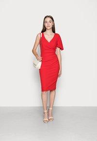 WAL G. - SIMI SLINKI MIDI DRESS - Cocktail dress / Party dress - red - 1
