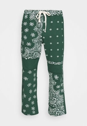 CUT AND SEW WIDE LEG JOGGERS - Tracksuit bottoms - green
