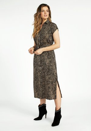 Shirt dress - black dessin