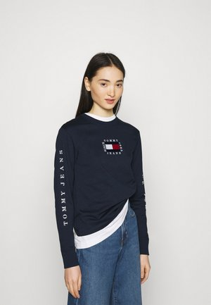 FLAG LONGSLEEVE - Long sleeved top - twilight navy