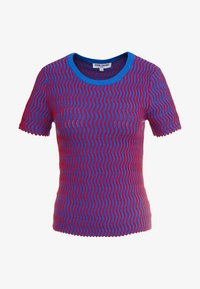 Opening Ceremony - SQUIGGLE  - Print T-shirt - cobalt cranberry - 3