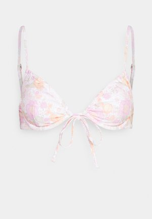 MELODY TIE FRONT UNDERWIRE - Bikini top - rose