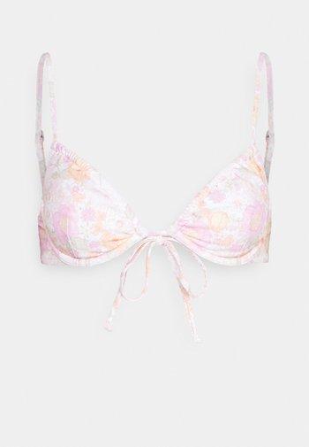 MELODY TIE FRONT UNDERWIRE - Bikiniöverdel - rose