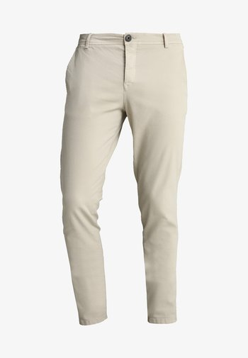 SLHSKINNY LUCA  - Chino kalhoty - silver lining