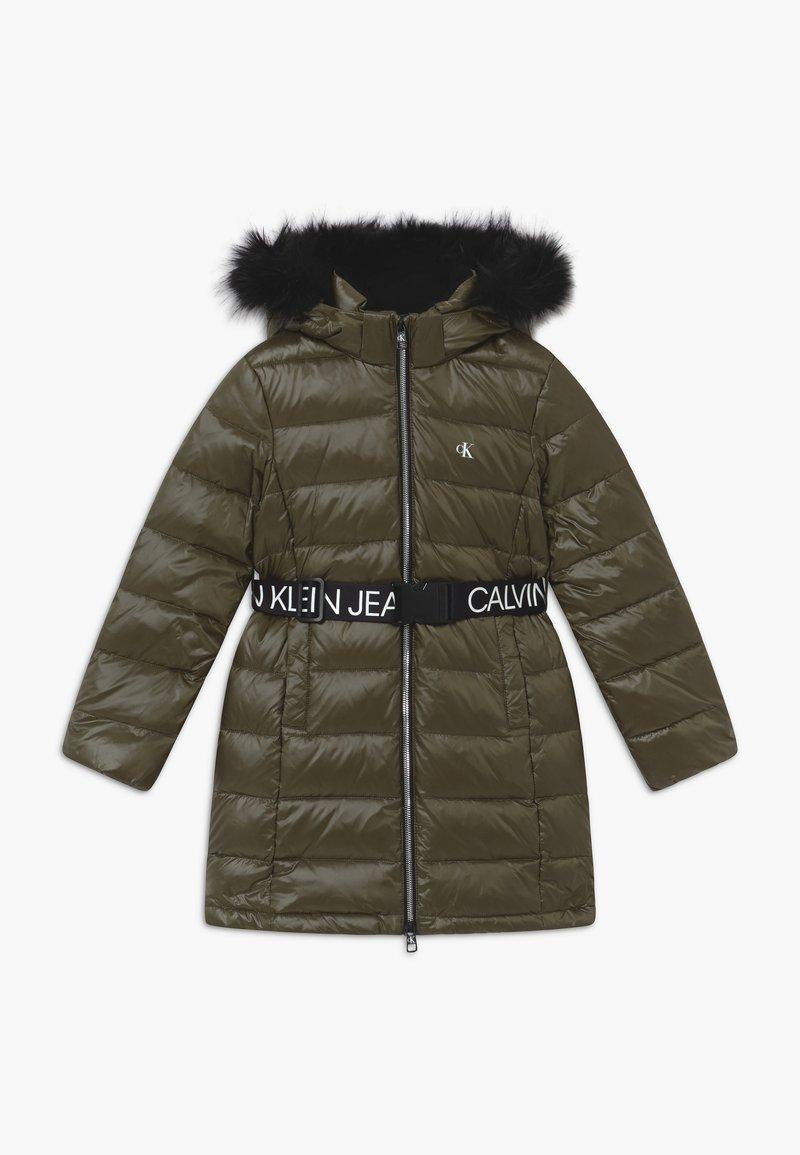 Calvin Klein Jeans - ESSENTIAL LONG - Kabát zprachového peří - green