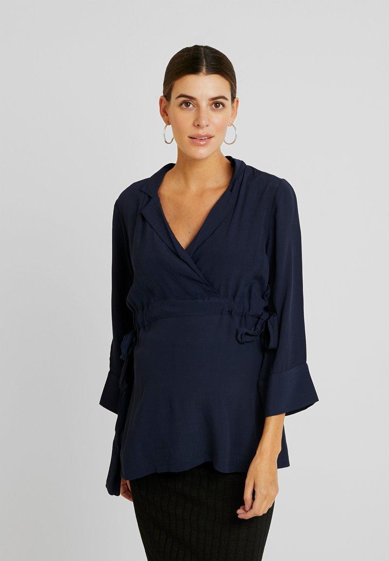 MAMALICIOUS - MLEWA - Blouse - navy blazer