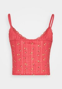 BDG Urban Outfitters - POINTELLE VNECK CAMI - Topper - mineral red - 1