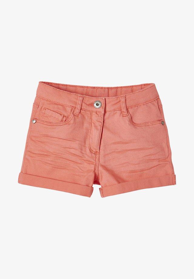 Denim shorts - coral