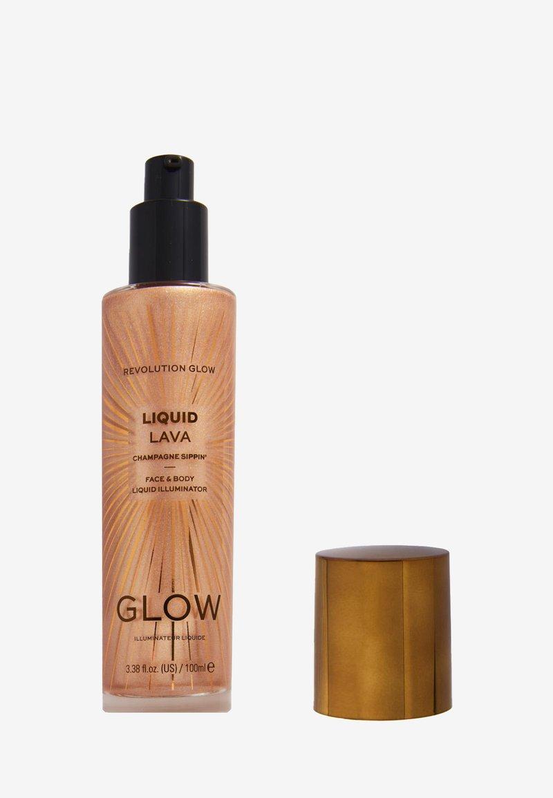 Makeup Revolution - REVOLUTION GLOW LIQUID LAVA - Highlighter - champagne sippin