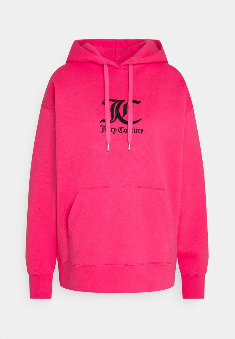 Juicy Couture - QUEENIE - Jersey con capucha - fluro pink