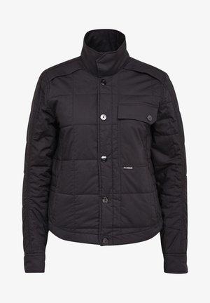 QUILTED OVERSHIRT - Light jacket - black