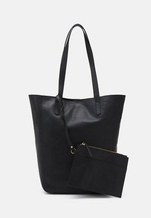 LEATHER SET - Velká kabelka - black