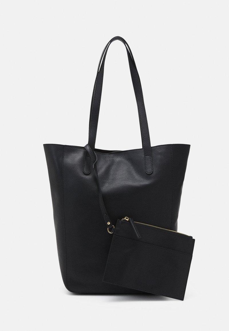 Anna Field - LEATHER SET - Shoppingveske - black
