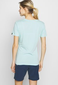 Salewa - GRAPHIC TEE - Print T-shirt - canal blue melange - 2