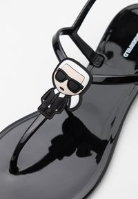 KARL LAGERFELD - JELLY IKONIC SLING - Pool shoes - black