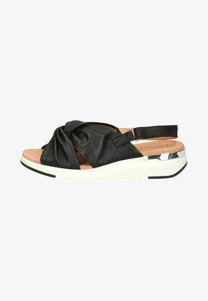 WOMS  - Sandalen met sleehak - black