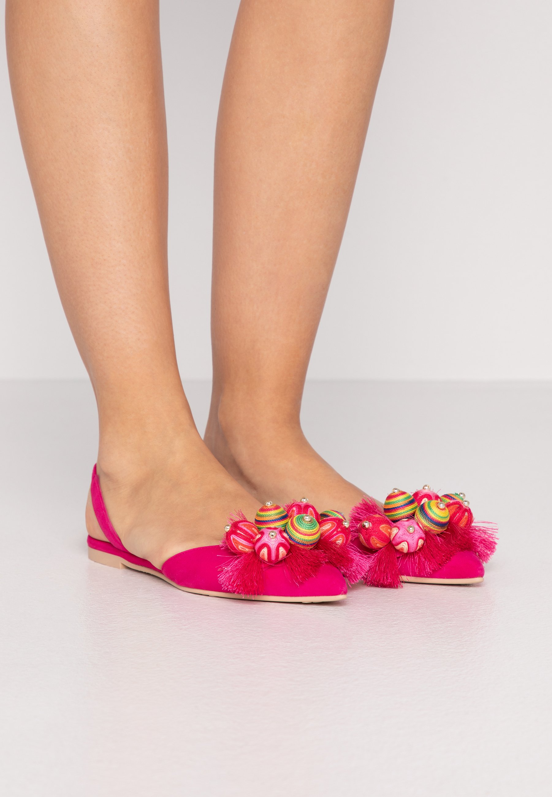 Outlet Cheapest Pretty Ballerinas Slingback ballet pumps - fuxia/coco | women's shoes 2020 qGMr8