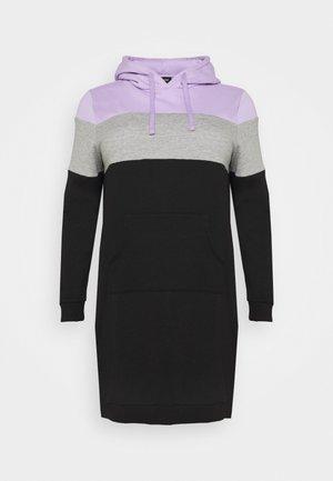 Vestido informal - lilac/white/black
