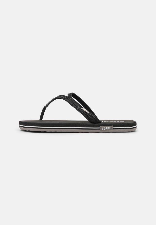 ALA LOOP THONGS - Sandalias de dedo - black