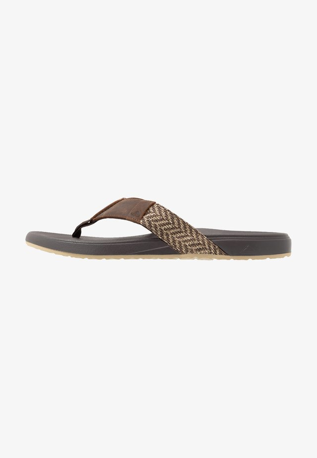 BOUNCE PHANTOM SE - Flip Flops - brown/tan