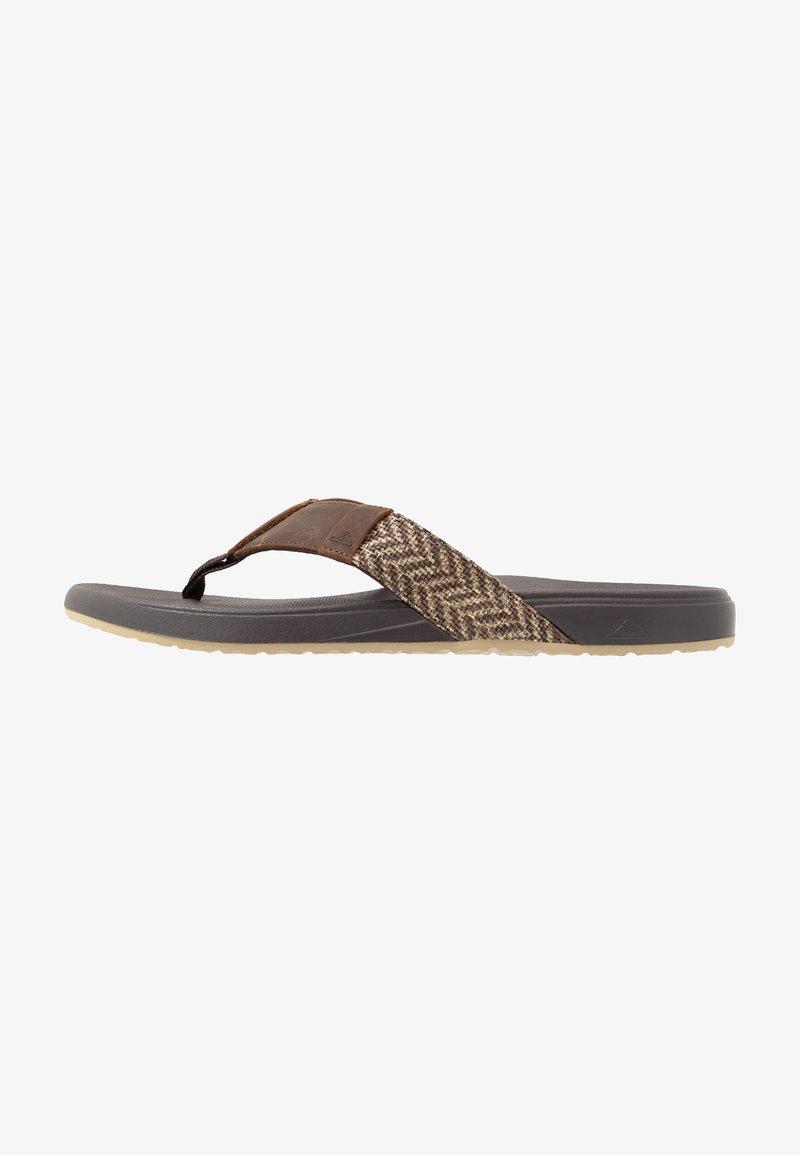 Reef - CUSHION BOUNCE PHANTOM - Sandály s odděleným palcem - brown/tan