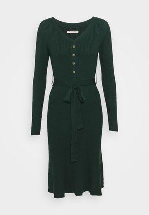 Strikket kjole - dark green