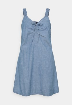 VMAKELA CHAMBRAY FLOU DRESS - Denim dress - medium blue denim