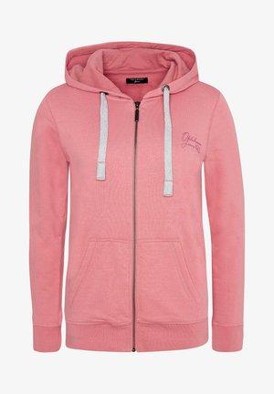 Zip-up hoodie -  tea rose