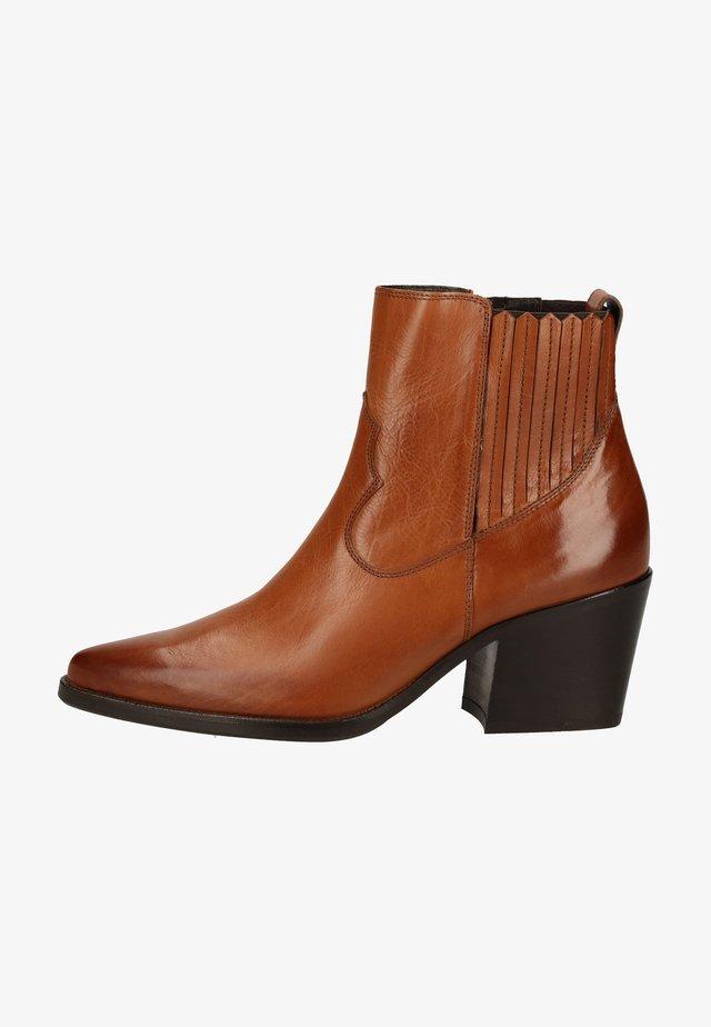 Korte laarzen - cognac-braun 047