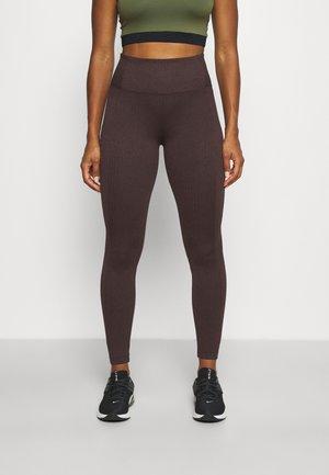 DELANCEY - Leggings - dark brown