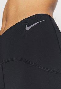 Nike Performance - SPEED 7/8 MATTE - Leggings - black/gunsmoke - 5