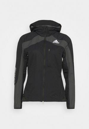 MARATHON - Regnjakke / vandafvisende jakker - black/grey six