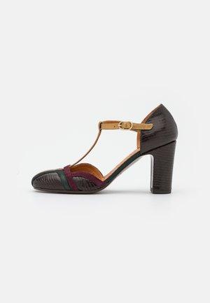 WANDER - Classic heels - fila grape/dali bronce/lame verde west/grape fila