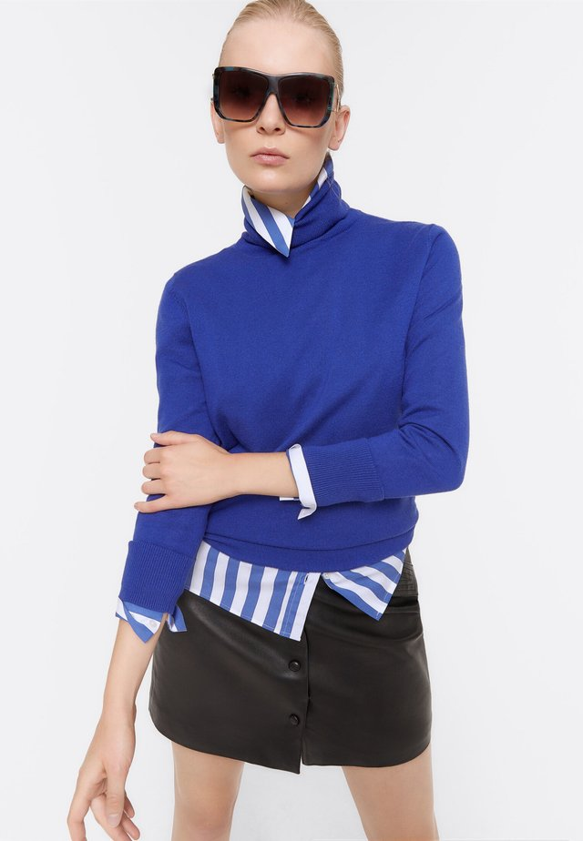 BASIC-ROLLKRAGEN - Jumper - dark blue