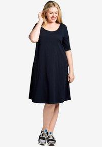 Yoek - Day dress - dark blue - 1