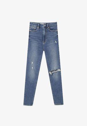 SUPER HIGH WAIST IM VINTAGELOOK - Jeans Skinny Fit - stone blue denim