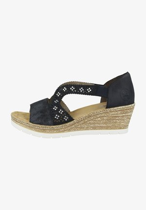 Wedge sandals - night blue-pacific