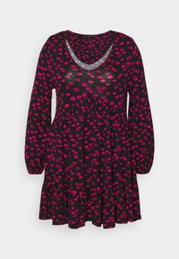 Evans - LIPS DRESS - Day dress - black - 0