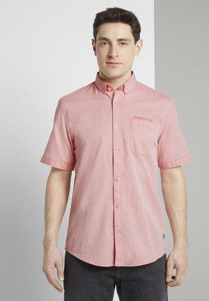 RAY TWO TONE - Shirt - orange white two face twill