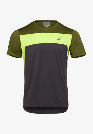 T-shirt z nadrukiem - graphite grey/smog green