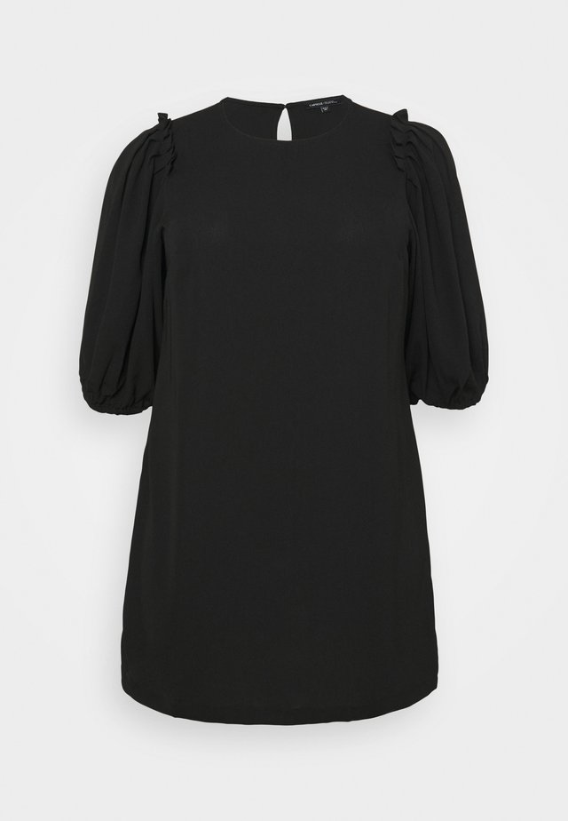 PUFF SLEEVE SHIFT DRESS - Sukienka letnia - black