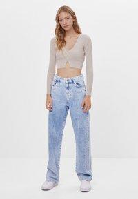 Bershka - Široké džíny - blue denim - 1